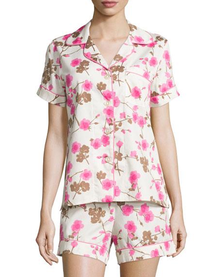 BedheadCherry Blossom Printed Shorty Pajama Set