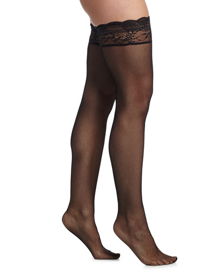 Cosabella Trenta Lace Garter Belt & Thigh-High Stockings,