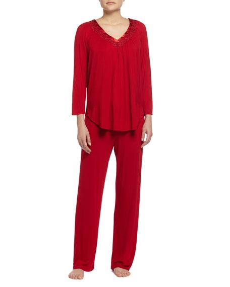 Oscar de la Renta Luxe Jersey Knit Pajama