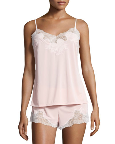 Enchant Lace-Trimmed Nightie Set, Dusty Deco Pink