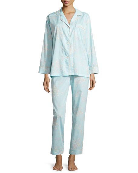 Bedhead Floral-Print Voile Pajama Set, Blue