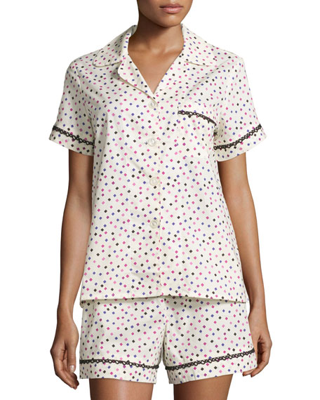 Bedhead Ticker Tape Short Poplin Pajama Set