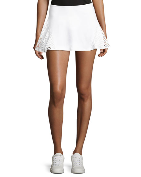 Michi Deuce Mesh-Panel Tennis Skirt