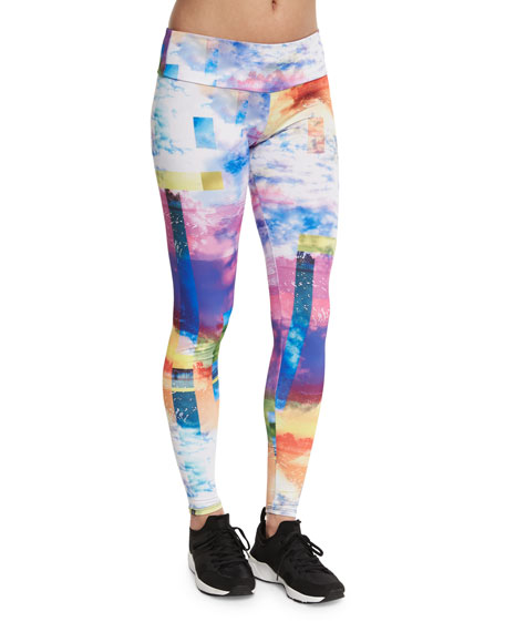 Onzie Graphic-Print Long Sport Leggings, Waikiki