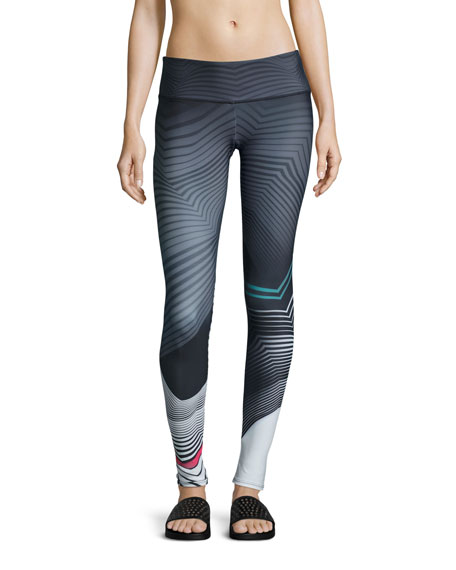 Onzie Graphic Long Sport Leggings, Tribal Effect