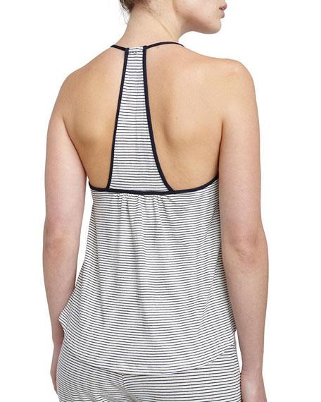 Striped T-Back Camisole, Moonlit Blue