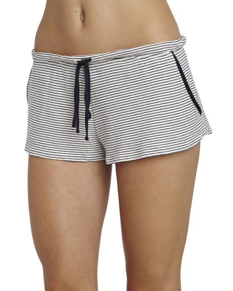 Striped Lounge Shorts, Moonlit Blue