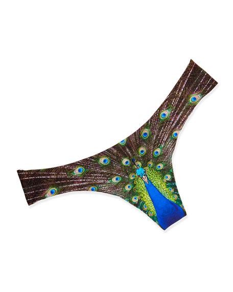 Peacock Printed Thong