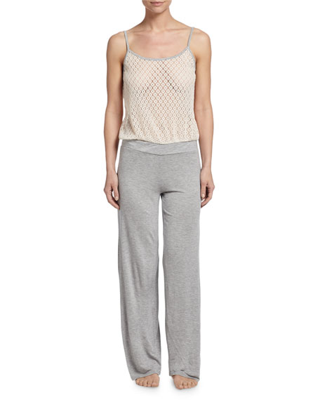 Underella by Ella Moss Harlow Wide-Leg Lounge Jumpsuit, Heather Gray
