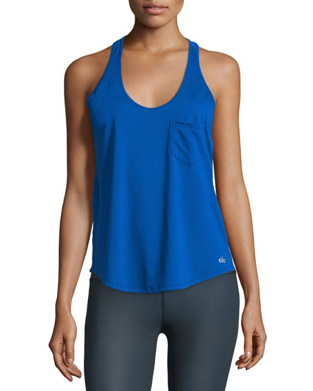 Alo Yoga Extreme Racer Mesh Sport Tank Top,