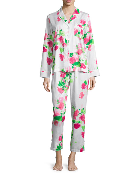 Kate Spade floral-print sateen two-piece pajama set
