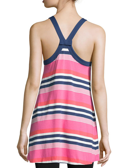 multi-striped jersey chemise