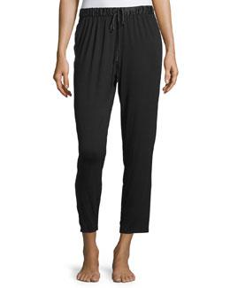 Fuji Drawstring-Waist Lounge Pants, Black