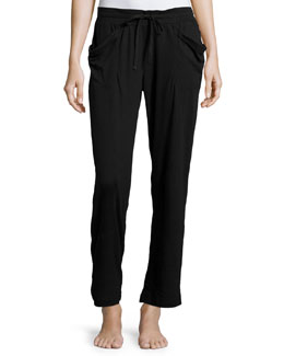 Linen Instincts Lounge Pants, Black