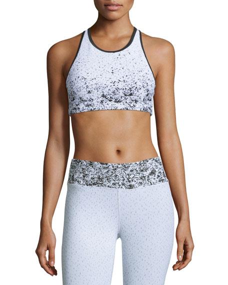 Koral Activewear Submerge Pixel-Printed Sports Bra