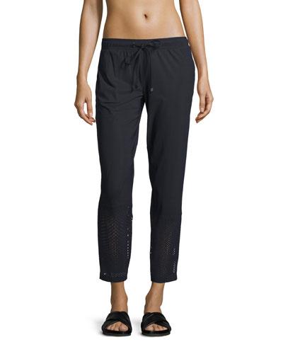 Alliance Perforated-Panel Pants, Black