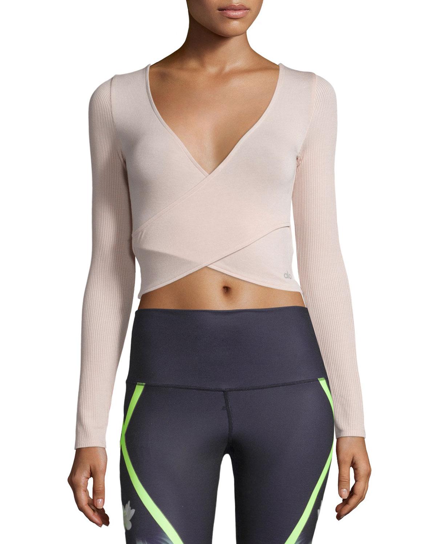 39ce006f8a5ef Alo Yoga Amelia Long-Sleeve Crop Top | Neiman Marcus
