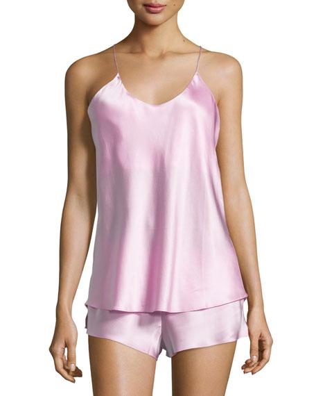 Bella Bubble Gum Sleeveless Shorty Pajama Set, Pink