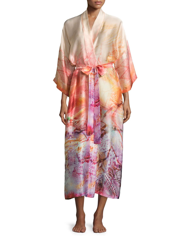 795d2c3ee0 Christine Designs Aurora Printed Long Wrap Robe