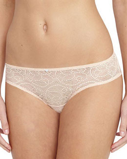 Serena Lace Hipster Briefs, Sweet Apricot