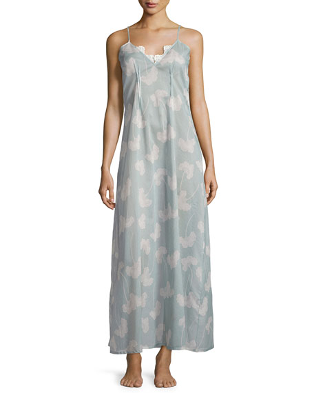 La Costa Isadora Printed Long Gown, Light Blue
