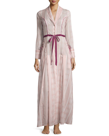 La Costa Cresside Printed Long Robe, Pink