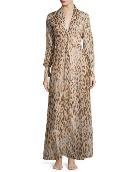 La Costa Eunice Leopard-Print Robe