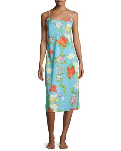 Peranakan Floral-Print Gown