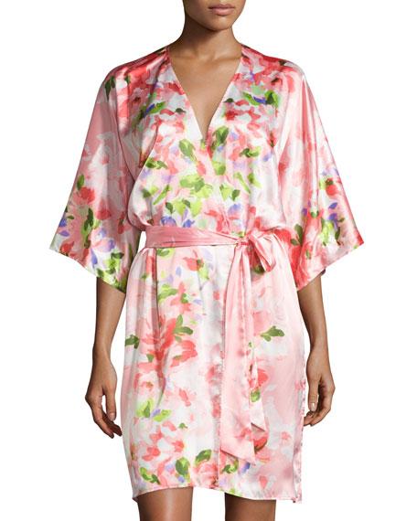 Garden Party Short Wrap Robe
