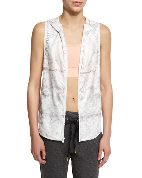 Alala Printed Hooded Vest W/Mesh Panels, Zip-It-Up Mesh