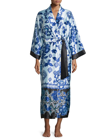 Oscar de la Renta Signature Long Belted Robe