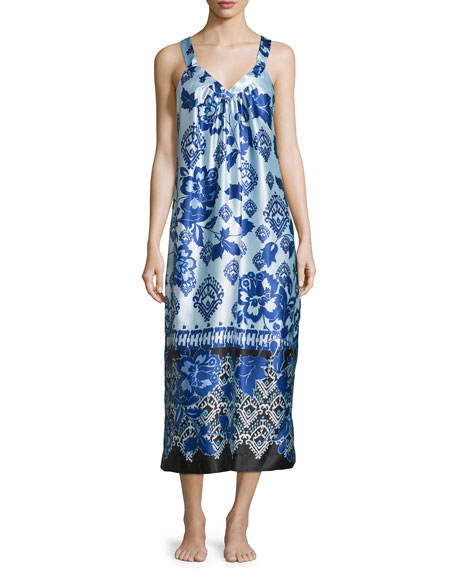 Oscar de la Renta Signature Sleeveless Night Gown
