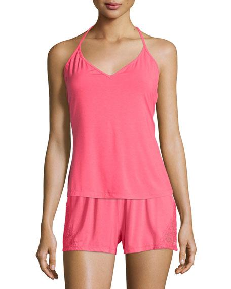 Cosabella Tamaya Lace-Back Camisole, Paradise Pink