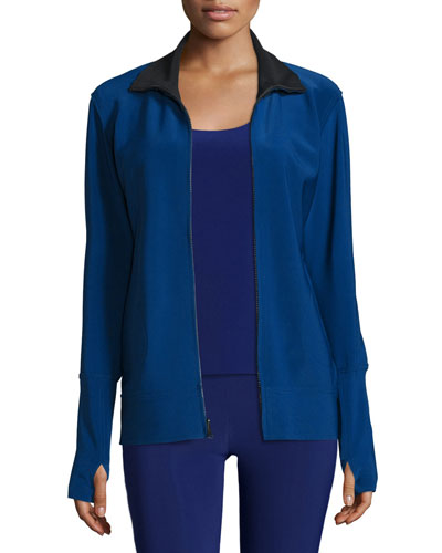 Full-Zip Track Jacket, Blueberry