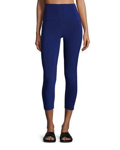 Solid Stretch Leggings, Blueberry