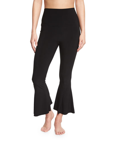Cropped Fishtail-Hem Pants