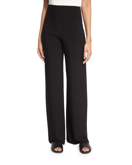 Go High-Waist Stretch Pants, Black