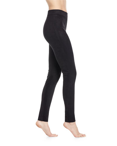 Velour Leggings, Black