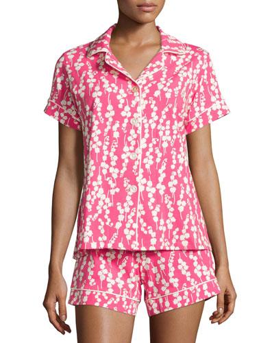 Bellflower Printed Shorty Pajama Set