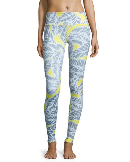 Alo Yoga Airbrush Palm-Printed Sport Leggings