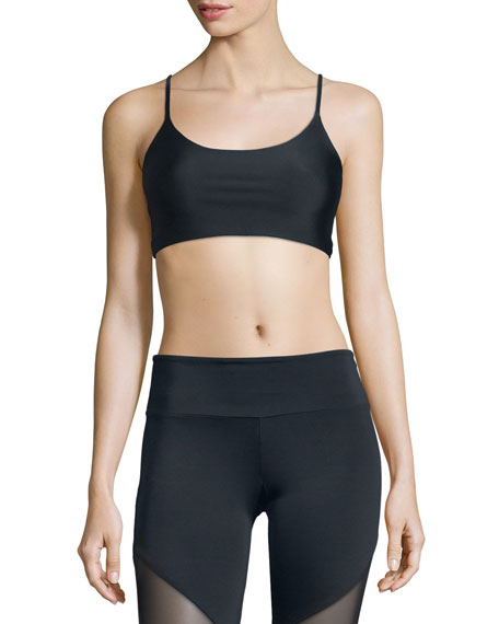 Vinyasa Strappy-Back Sports Bra, Black