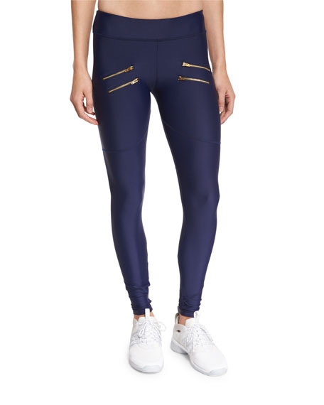 Varley Sofia Zip-Front Compression Tights