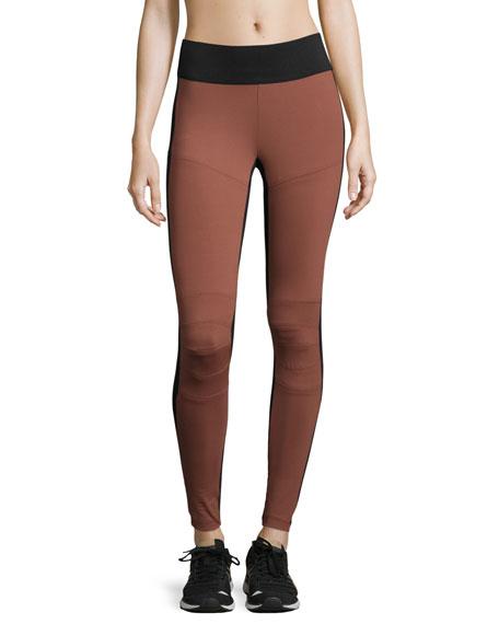 Koral Activewear Matte Moto Sport Leggings, Sandstone