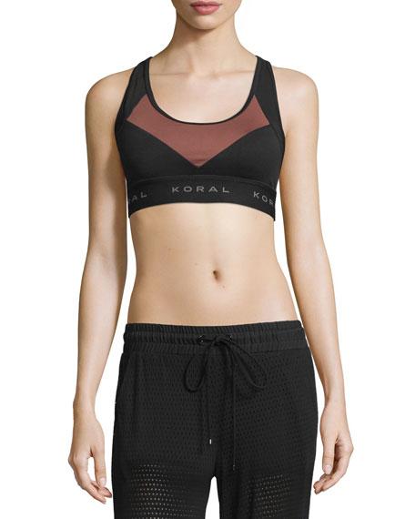 Koral Activewear Emblem Versatility Colorblock Sports Bra,