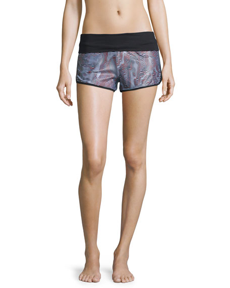 Koral Activewear Flex Fold-Over Shorts, Sahara/Black