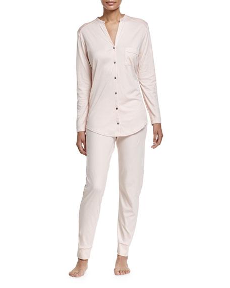 Hanro Pure Essence Two-Piece Pajama Set, Roseo