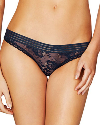 Stella Lace Bikini, Dark Ink Blue