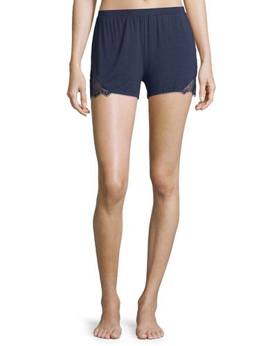 Cheyene Pajama Boxer Shorts, Navy