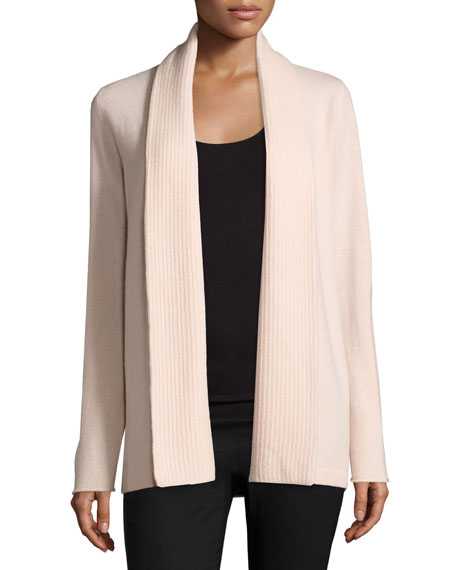 Open-Front Cashmere Cardigan w/ Pinched Back
