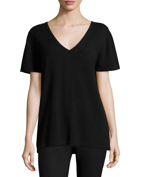 Neiman Marcus Cashmere Collection Cashmere Lounge Tee